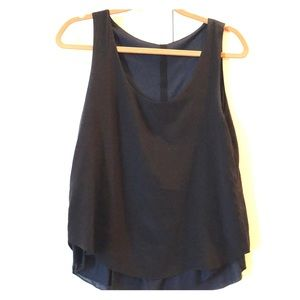 Rag & Bone reversible tank in black and navy